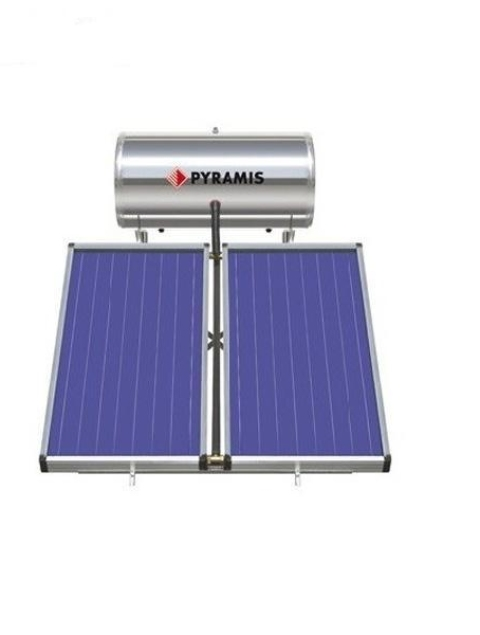 Pyramis 160lt διπλής ενέργειας με επιλεκτικό συλλέκτη 3m²