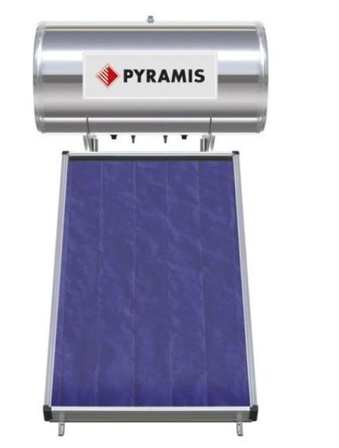 Pyramis 160lt διπλής ενέργειας με επιλεκτικό συλλέκτη 2,3m²