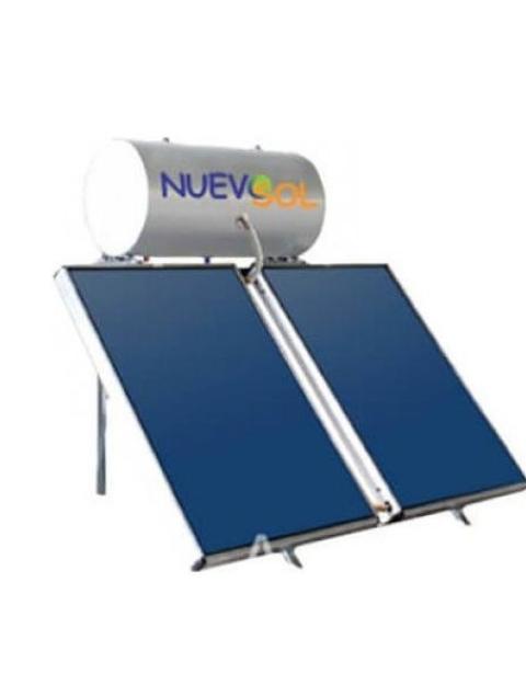 Ηλιακός Θερμοσίφωνας  Nuevosol 200 Lt 4τμ glass boiler ηλιακό διπλής ενεργείας επιλεκτικός με δύο συλλέκτες
