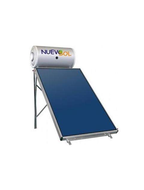 Ηλιακός Θερμοσίφωνας  Nuevosol 200 Lt 3τμ glass boiler ηλιακό διπλής ενεργείας επιλεκτικός με ένα συλλέκτη