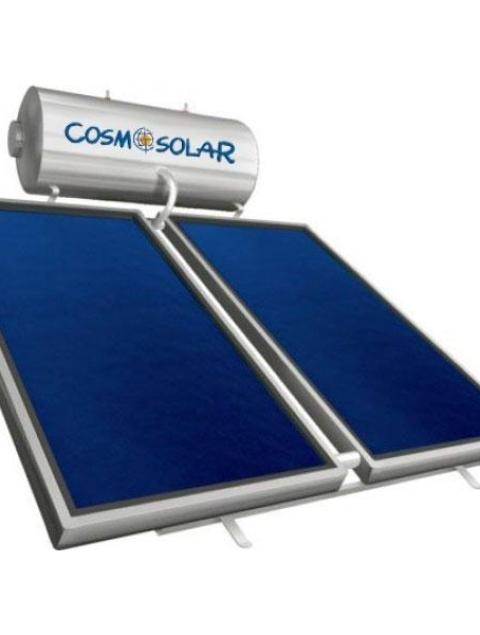Ηλιακός Θερμοσίφωνας Cosmosolar CS-300 VS 300Lt VS GLASS Επιλεκτικός 4m² Διπλής Ενερ.
